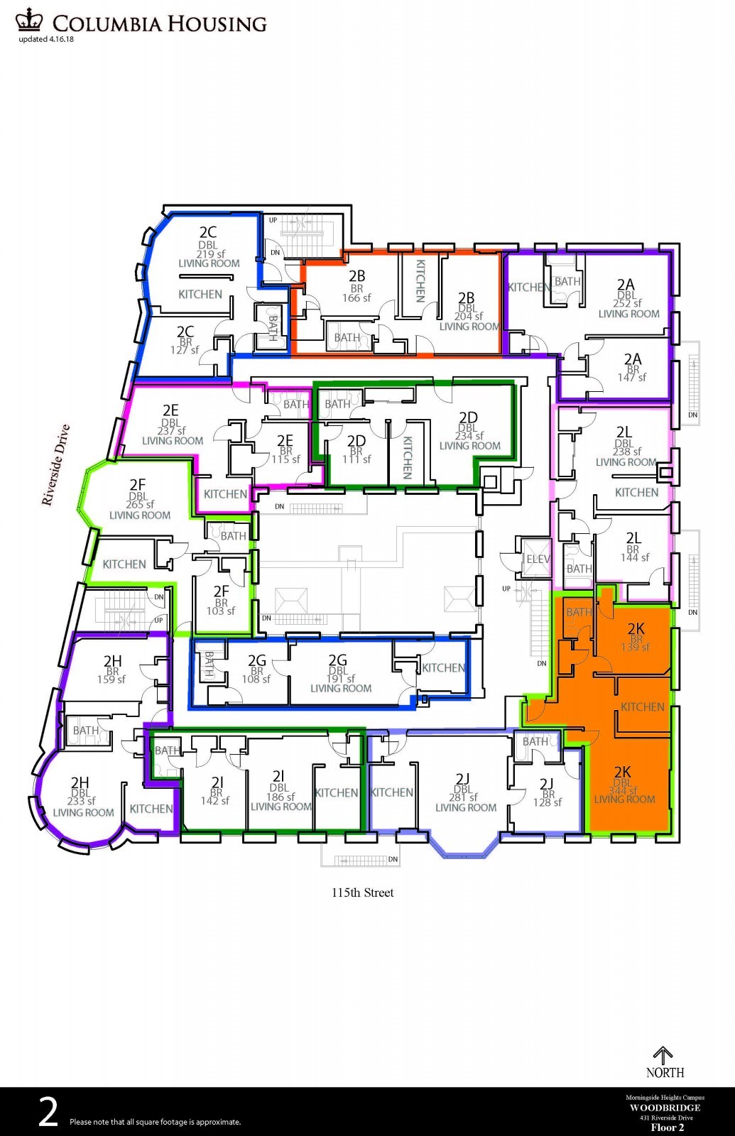 Floor Plan - Woodbridge Hall First Floor
